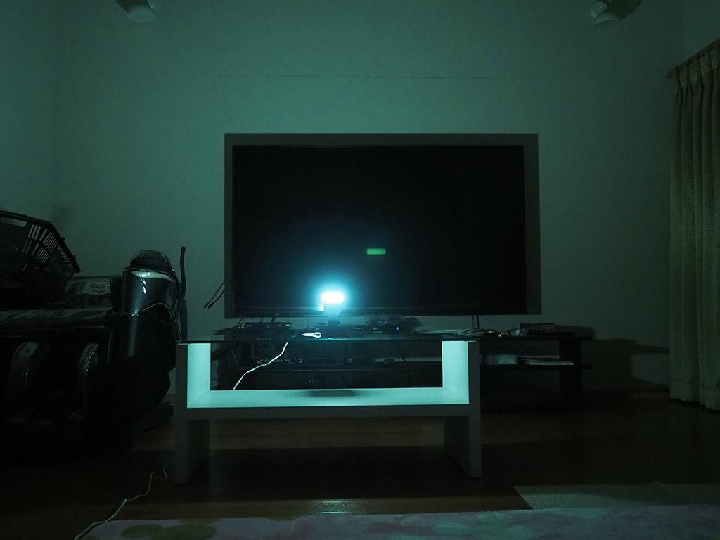 緑色の明かり