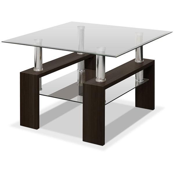 テーブル ローテーブル ガラス 2段 おしゃれ 北欧 センターテーブル リビングテーブル コーヒーテーブル ガラステーブル 木製 幅60cm x 奥行60cm x 高さ40cm|joyfulmart|05