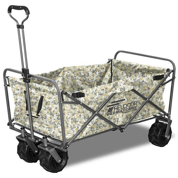キャリーカート キャリーワゴン 大容量 折りたたみ おしゃれ アウトドア 大きい 丈夫 大型タイヤ 軽量 キャンプ バーベキュー タフ ロング FIELDOOR 送料無料 joyfulmart 13