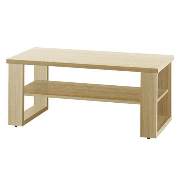 テーブル ローテーブル センターテーブル リビングテーブル コーヒーテーブル 木製 幅90cm x 奥行45cm x 高さ40cm 棚 棚付き 北欧 モダン 木目|joyfulmart|05