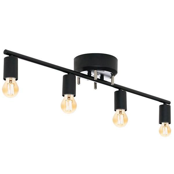 シーリングライト 照明 器具 4灯 ヴィンテージ風 LED エジソンライト セット おしゃれ シェードなし led対応 天井照明 直付け 寝室 リビング 洋室 北欧 送料無料|joyfulmart|06