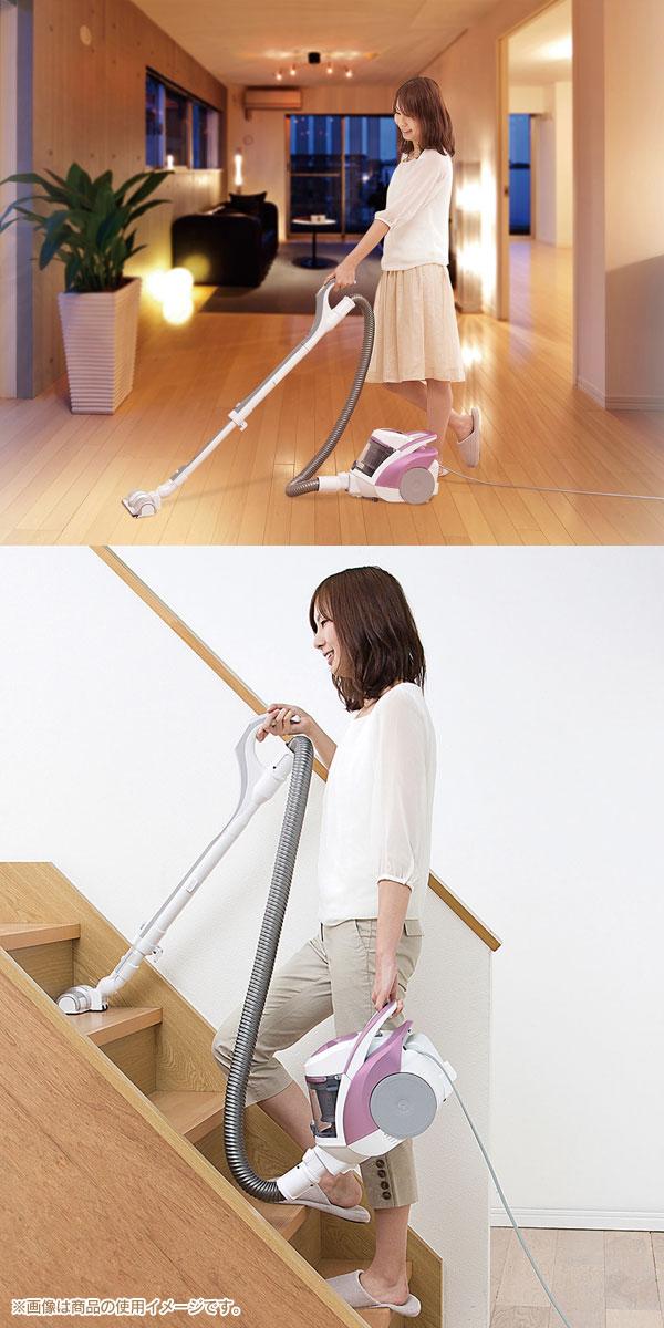 コンパクトなボディで家具のすき間の掃除や移動もラクラク!