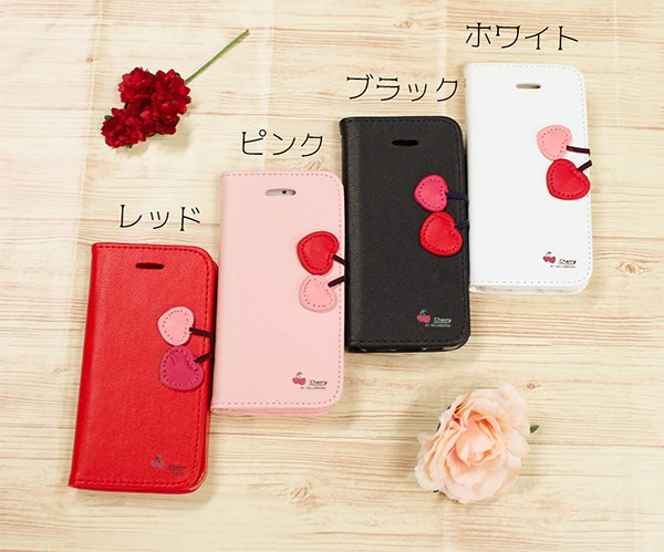 b2a5d0fa81 iPhoneX ケース 手帳型 全4色 かわいい さくらんぼ カバー 耐衝撃 財布 スマホケース おしゃれ アイフォン 7 8 10 iphoneSE  /【Buyee】