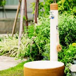 ナチュラルスタイルの立水栓