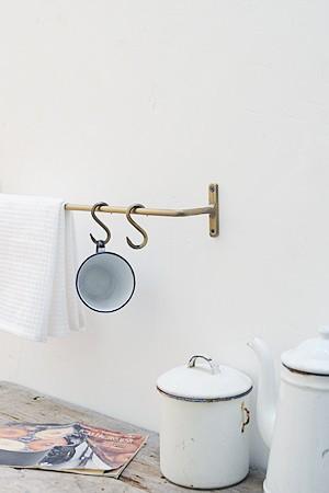 Plain Iron Towel Bar Antique Gold S
