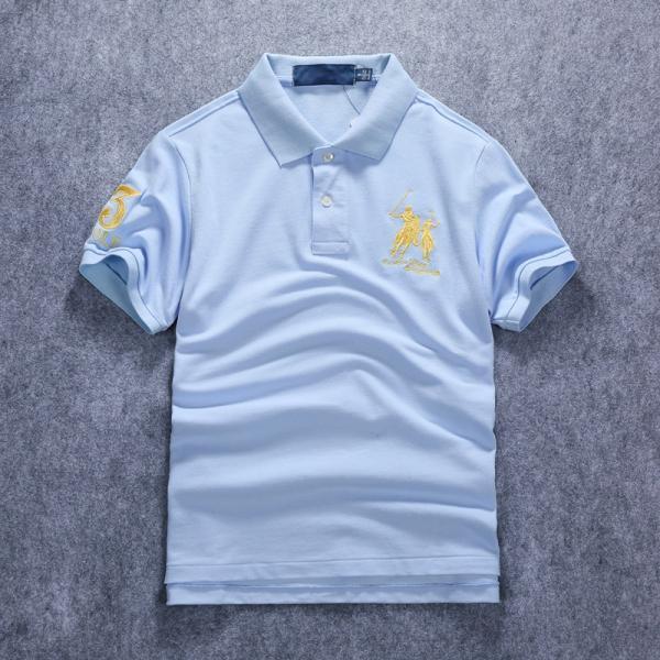 ポロシャツ メンズ 無地 刺繍入り 綿100% 柔らかい カラフル 16色展開 ゴルフウェア カジュアル 夏新作|justmode|33