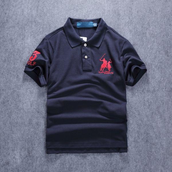 ポロシャツ メンズ 無地 刺繍入り 綿100% 柔らかい カラフル 16色展開 ゴルフウェア カジュアル 夏新作|justmode|23