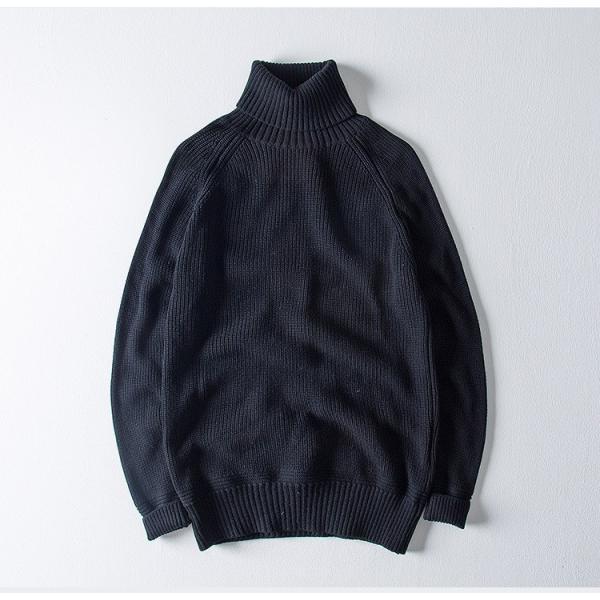 セーター メンズ ニット タートルネック ハイネック タイト 無地 シンプル トップス|justmode|14