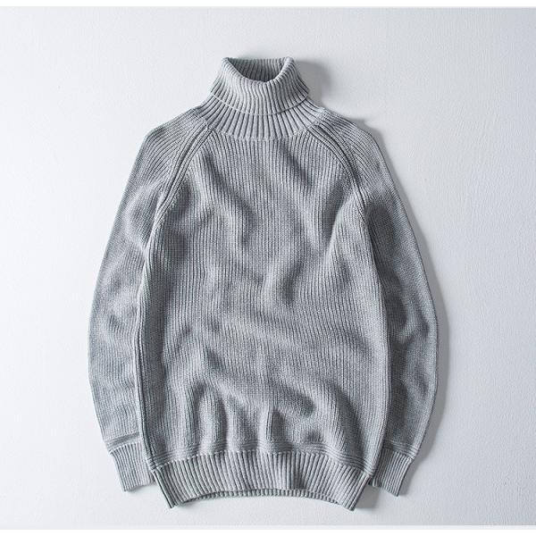 セーター メンズ ニット タートルネック ハイネック タイト 無地 シンプル トップス|justmode|15