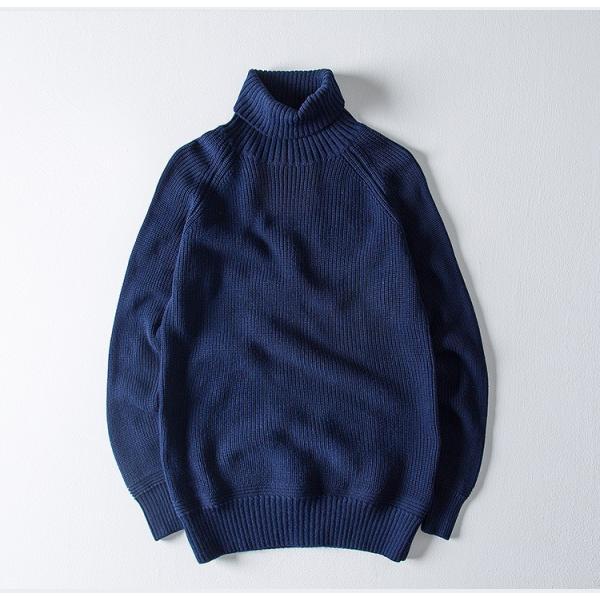 セーター メンズ ニット タートルネック ハイネック タイト 無地 シンプル トップス|justmode|12