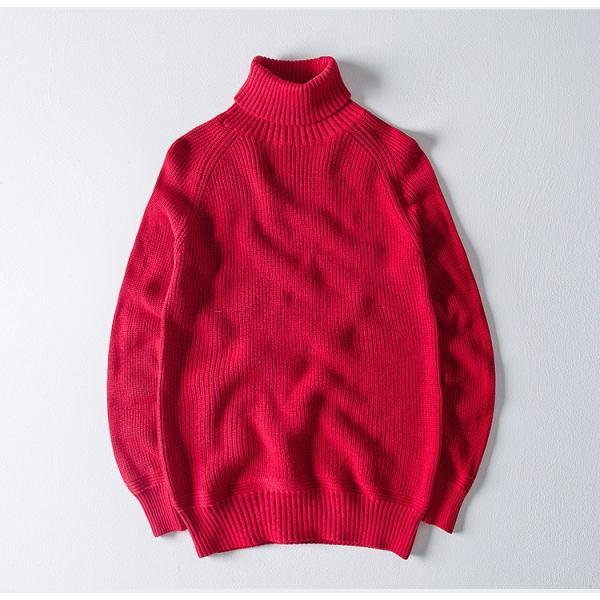 セーター メンズ ニット タートルネック ハイネック タイト 無地 シンプル トップス|justmode|13