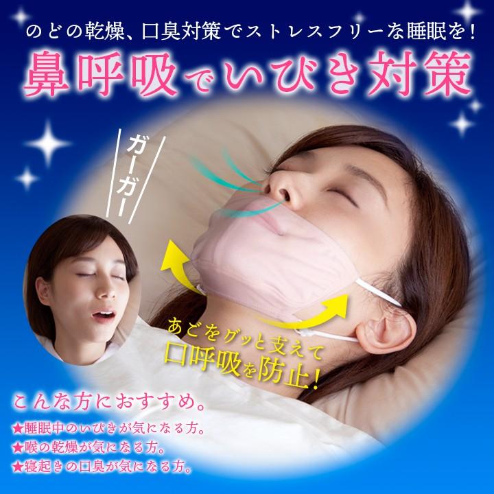 マスク いびき対策 のどの乾燥 口臭予防 口呼吸対策 鼻呼吸 安眠グッズ
