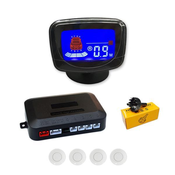 バックセンサー コーナー モニター付き クリアランスソナー リア 4個セット アラーム パーキングセンサー 警告音|jxshoppu|10