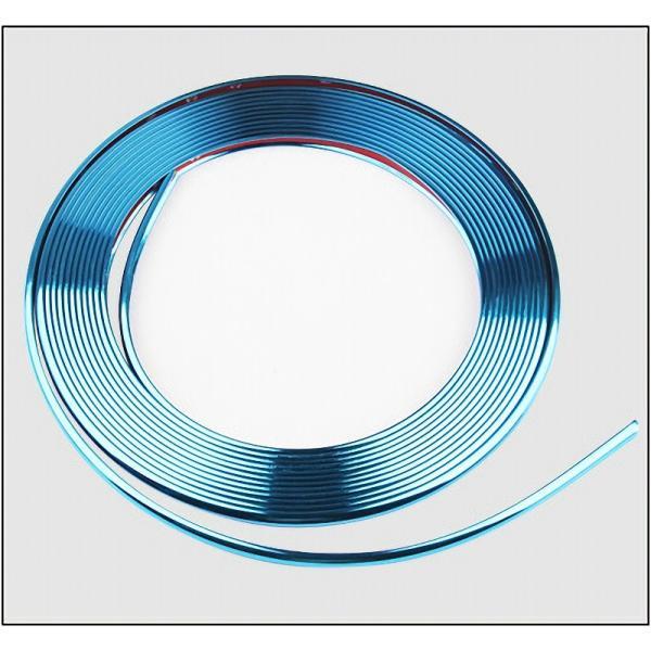 メッキ仕様 リムガード プロテクター モール ガード 8m テープ 汎用 保護 ホイール タイヤ ライン キズ防止 キズ隠し ガリ傷防止|jxshoppu|11