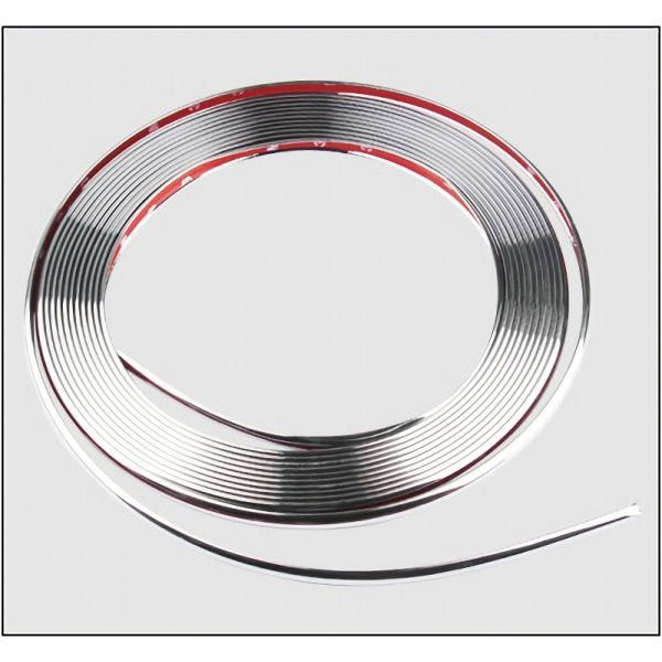 メッキ仕様 リムガード プロテクター モール ガード 8m テープ 汎用 保護 ホイール タイヤ ライン キズ防止 キズ隠し ガリ傷防止|jxshoppu|10