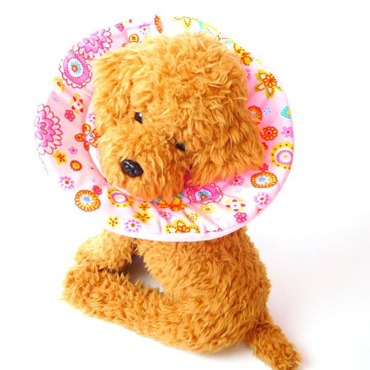 エリザベスカラー ソフト 犬 猫 マジックテープ 柔らかい 傷口 舐め 防止 犬服 トイプードル チワワ 犬 服 ドッグウェア 送料無料|k-city|13