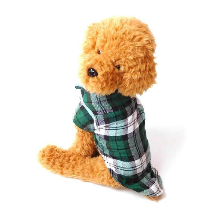 犬 服 犬服 犬の服 おしゃれ トイプードル チワワ チェック柄 シャツ ドッグウェア 前ボタン 犬 送料無料|k-city|08