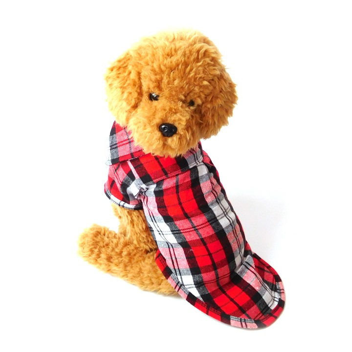 犬 服 犬服 犬の服 おしゃれ トイプードル チワワ チェック柄 シャツ ドッグウェア 前ボタン 犬 送料無料|k-city|09
