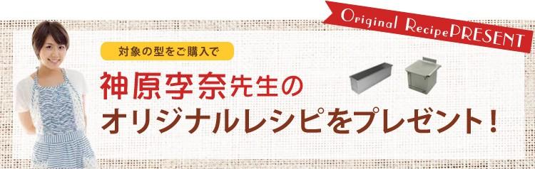 対象の型をご購入で神原李奈先生のオリジナルレシピをプレゼント!