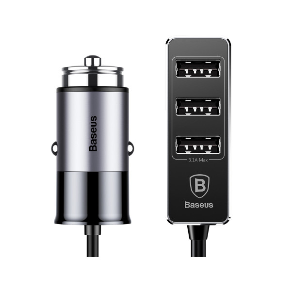 カーチャージャー アルミ製 車用 iPhoneXS Max iPhoneXR 充電器 コンパクト USBボート 4台同時充電 出力最大5.5A スマートIC機能 急速充電|k-seiwa-shop|20