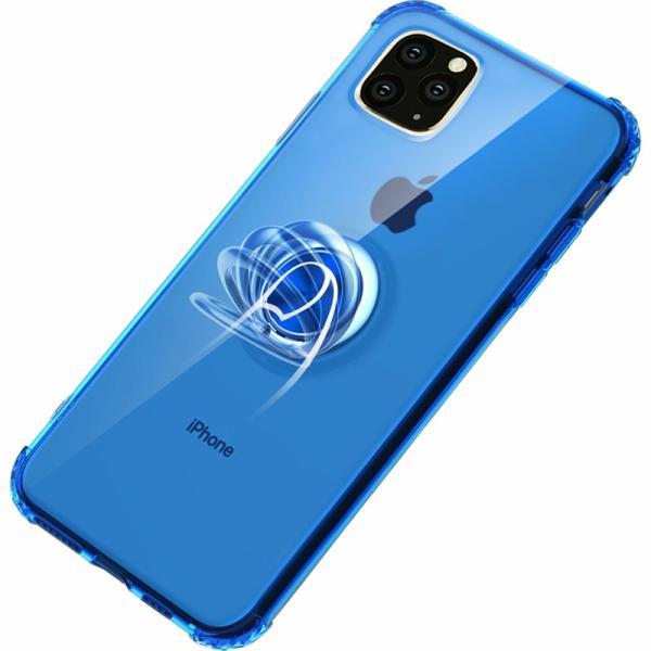 リング付きiphoneケース iPhone11 ケース iPhone11 Pro Max カバー iPhone11Pro ケース 耐衝撃 リング付き ストラップ機能 ガラスフィルム付き k-seiwa-shop 15