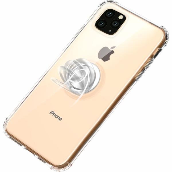 リング付きiphoneケース iPhone11 ケース iPhone11 Pro Max カバー iPhone11Pro ケース 耐衝撃 リング付き ストラップ機能 ガラスフィルム付き k-seiwa-shop 16