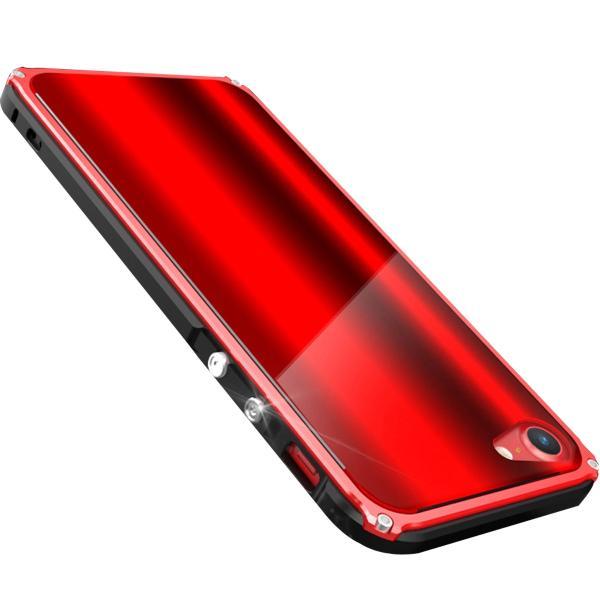 iPhone8 Plus 8 iPhone7Plus 7 ケース 耐衝撃 iPhoneXS Max XR X バンパー アルミ ストラップ機能 ワイヤレス充電可 iPhone6sPlus 6s 6 6Plus カバー おしゃれ k-seiwa-shop 22