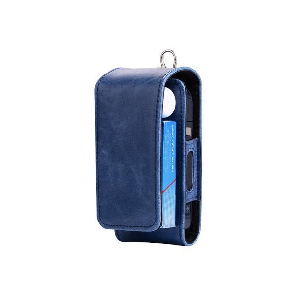 iQOS アイコス 専用 2.4 Plus 新型iQOS対応 iQOSケース 財布型 カード収納 カバー 電子たばこ バッグ レザー 革 ポーチ ホルダー カラビナ取付可|k-seiwa-shop|19