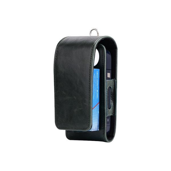 iQOS アイコス 専用 2.4 Plus 新型iQOS対応 iQOSケース 財布型 カード収納 カバー 電子たばこ バッグ レザー 革 ポーチ ホルダー カラビナ取付可|k-seiwa-shop|18