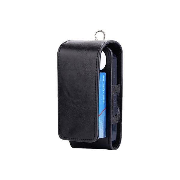 iQOS アイコス 専用 2.4 Plus 新型iQOS対応 iQOSケース 財布型 カード収納 カバー 電子たばこ バッグ レザー 革 ポーチ ホルダー カラビナ取付可|k-seiwa-shop|16