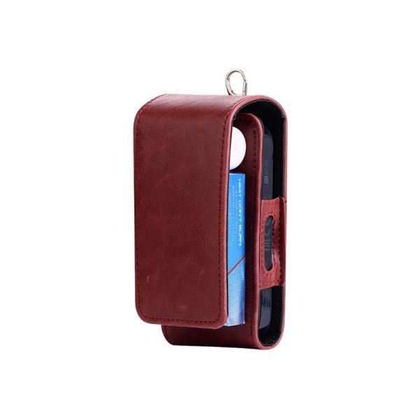 iQOS アイコス 専用 2.4 Plus 新型iQOS対応 iQOSケース 財布型 カード収納 カバー 電子たばこ バッグ レザー 革 ポーチ ホルダー カラビナ取付可|k-seiwa-shop|17