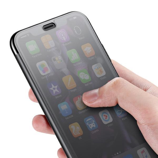 iPhoneXS Max ケース 手帳型 iPhoneX ケース 耐衝撃 iPhoneXS カバー ブランド 覗き見防止 iPhoneXR ケース フタを閉じたまま操作可能 TPU 薄型 軽量|k-seiwa-shop|17