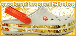 crocs クロックバンド トロピカル 2.0 クロッグ レディース メンズ カジュアル サンダル crocs crocband tropical 2.0 clog 正規品…人気のクロックバンドのサイドにトロピカル柄が施されたデザイン