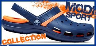 crocs モディ -MODI- アクティブなスタイルの新コレクション、2重構造でより快適。