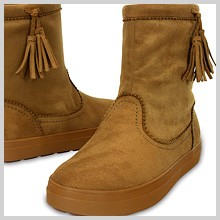 crocs ロッジポイント シンセティック スエード ブーツ ウィメンズ lodgepoint synthetic suede boot w