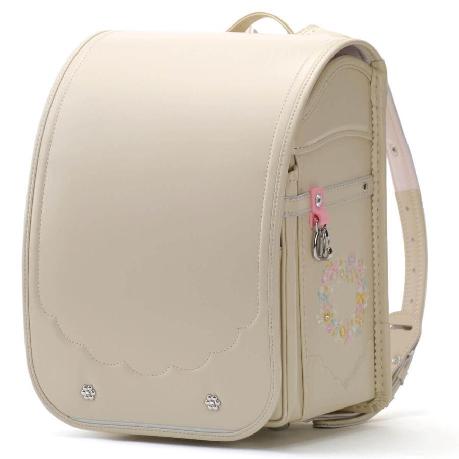 2022 キッズアミ ランドセル ラビットワイド 女の子 12002 クラリーノF  可愛い お花の刺繍 日本製 A4フラットファイル対応 学習院型 6年保証 kaban-kimura 09