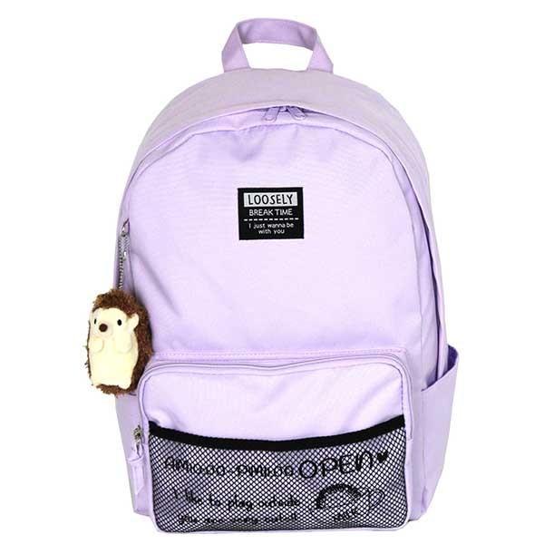 おしゃれ リュック 小学生 女子 黒 紫色 水色 かわいい 修学旅行 遠足 LOOSELY ハリ坊 リュックサック wkq-614|kabanya|08