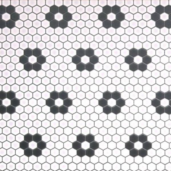 フロア キッチン マット おしゃれ DIY モザイク ハニカム コラベル タイル モロッコ ヘルシンキ 三角 アラベスク テラコッタ ナチュラル デニム 約182cm×60cm|kabegamiya-honpo|17
