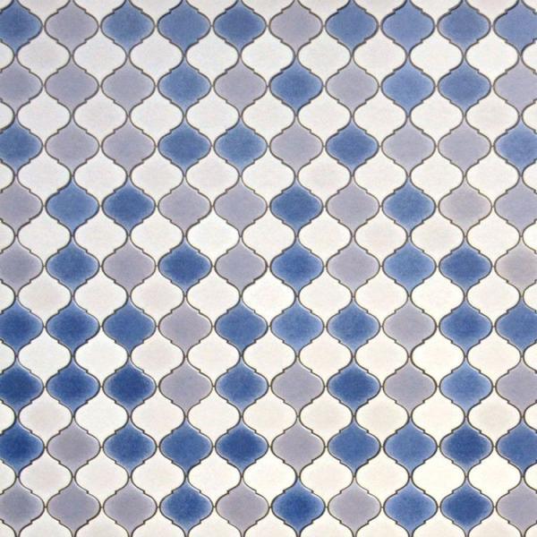 フロア キッチン マット おしゃれ DIY モザイク ハニカム コラベル タイル モロッコ ヘルシンキ 三角 アラベスク テラコッタ ナチュラル デニム 約182cm×60cm|kabegamiya-honpo|18
