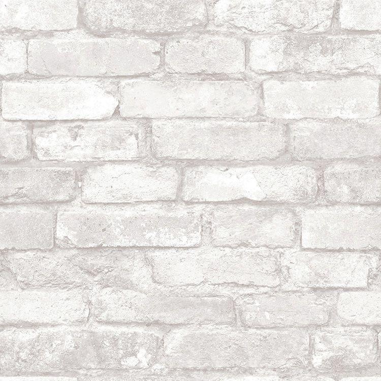壁紙 シール 貼って はがせる Nuwallpaper 白 レンガ柄 赤 レンガ柄