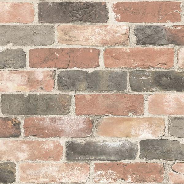 壁紙 シール 貼って はがせる NuWallpaper 白 レンガ柄 赤 レンガ柄 木目柄など Part3|kabegamiya-honpo|28