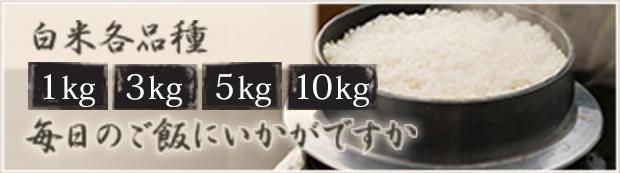 各品種1kg・3kg・5kg・10kgの規格販売です。