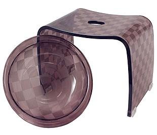 バスチェアー(シャワーチェア、風呂椅子、風呂イス、風呂いす、バススツール)&ウォッシュボール(洗面器、風呂桶、湯おけ、手おけ)セット