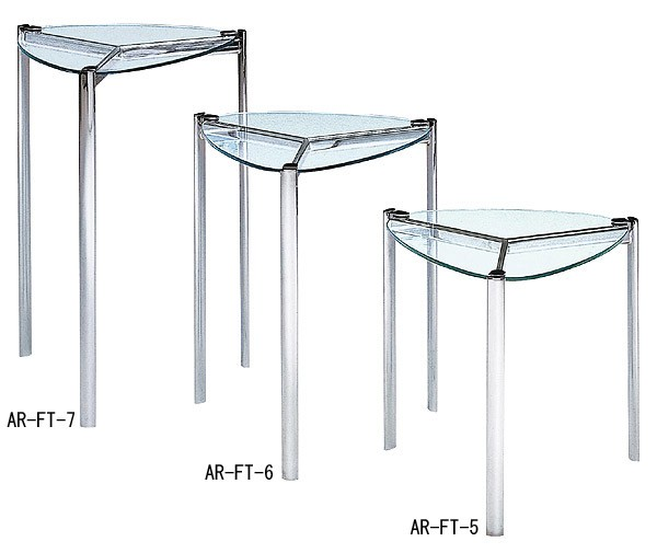 ガラス・テーブル、リビングテーブル、コーヒーテーブル、サイドテーブル「AR-FT-5」