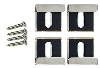 ミラーハンガー、ミラークリップ、鏡止め、鏡止め金具、鏡取り付け金具、鏡取付金具、鏡ツメ金具、化粧鏡止め金具、ステンレス二重鏡止め金具:Mh-L