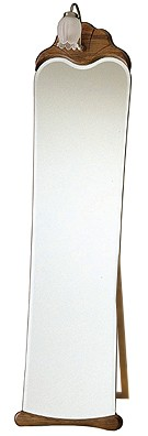 自立式・姿見 鏡 ミラー(スタンド付き)「森の家具シリーズ:w455h1630-14k-l」