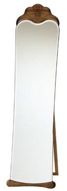 自立式・姿見 鏡 ミラー(スタンド付き)「森の家具シリーズ:w455h1630-14k」