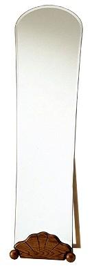 自立式・姿見 鏡 ミラー(スタンド付き)「森の家具シリーズ:w440h1520-14k」