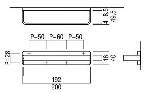 タオルハンガー・タオル掛け・タオルリング:U-AUS2031-012n寸法図