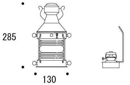 灯油ランプ・オイルランプ:g-7g0009k1参考図